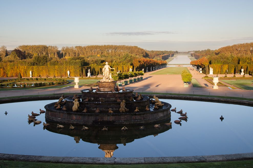 The Latona fountain, in the centre of the garden of Versailles