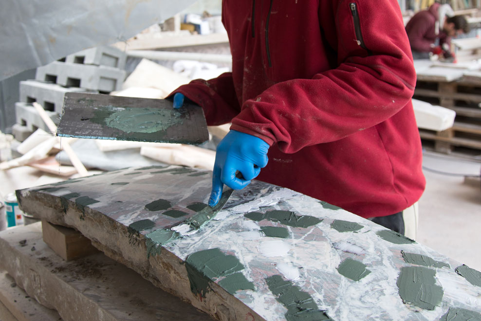 Patching marble