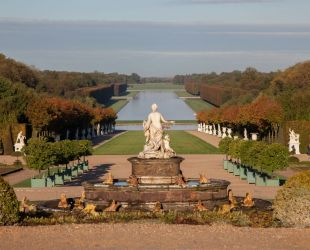 Latona in the centre of the gardens