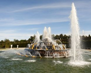The Latona fountain when it goes into action