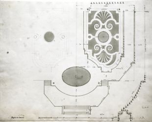 Plano del parterre de Latona
