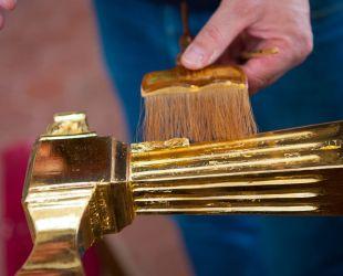 Aplicación de la hoja de oro