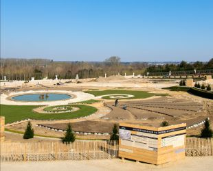 Progress being made on the Latona parterre