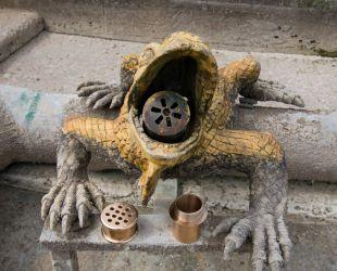 Prototipo de alcachofa de bronce in situ