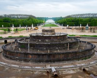 Latona fountain without sculptures