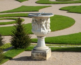 Detail of the restored parterre