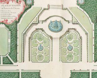 Plano del estanque y los parterres de Latona