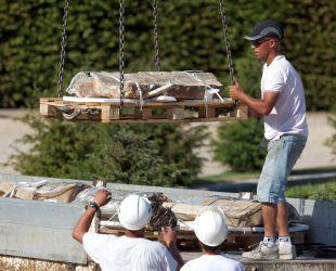 大理石の撤去