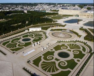 Aerial view of the Latona Parterre