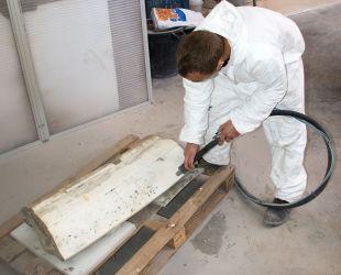 Restauration des marbres du bassin de Latone