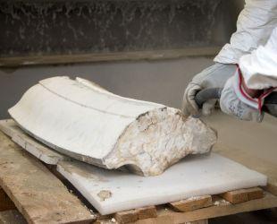 大理石のサンドブラスト