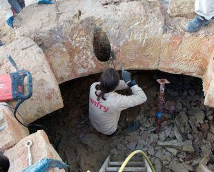 Les tailleurs de pierre au travail
