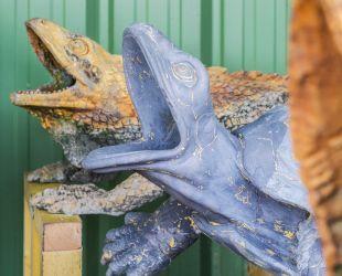 Sculpture de plomb avec et sans hydrogommage