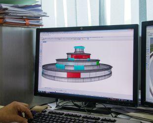 Simulation 3D du bassin restauré