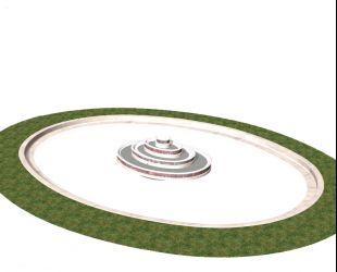 Plan 3D du bassin restauré