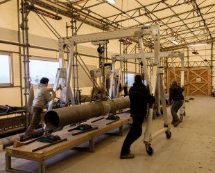 Préparation des canalisations des gerbes latérales