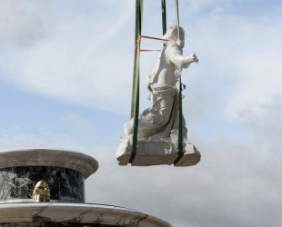 Return of the Latona Fountain sculpture