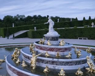 Aerial view of the Latona fountain