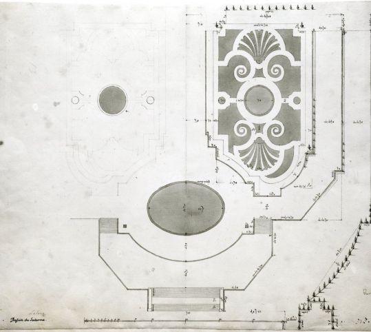 ラトナの花壇の平面図