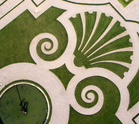 芝生の刺繍模様