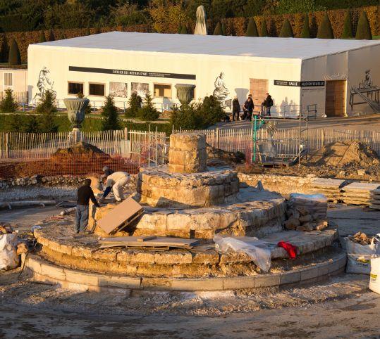 Le chantier du bassin de Latone