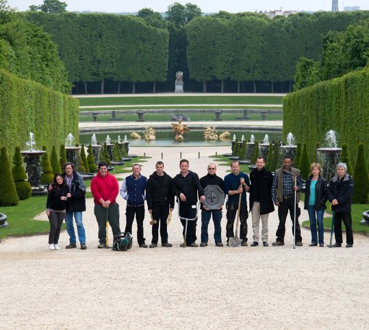 Fountain engineers of Versailles
