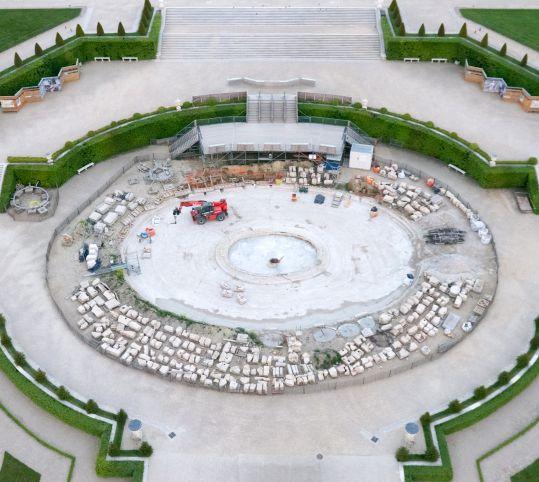 Vue aérienne du chantier