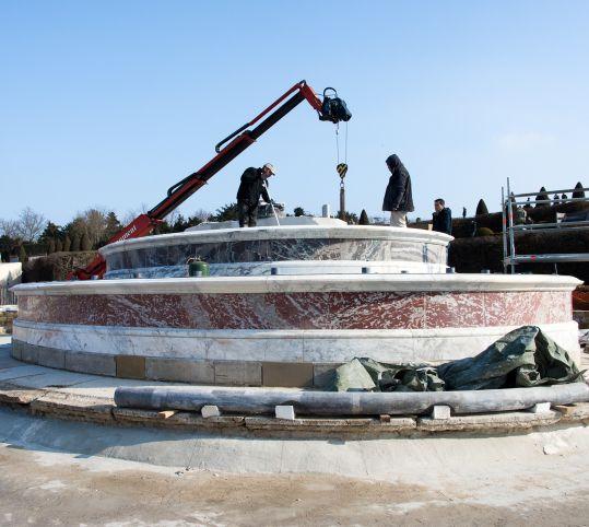 Retour des marbres restaurés
