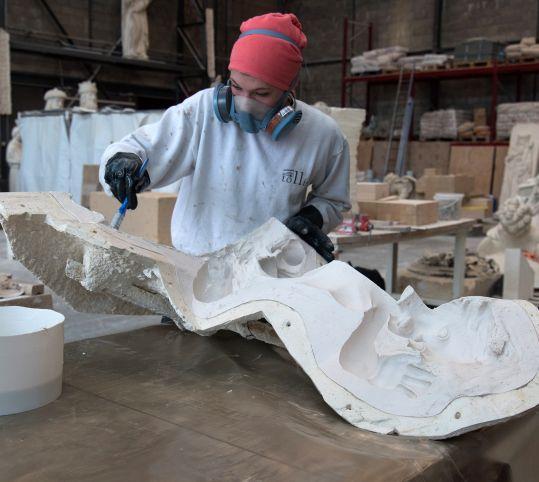 Nouveau moulage du groupe sculpté du bassin de Latone