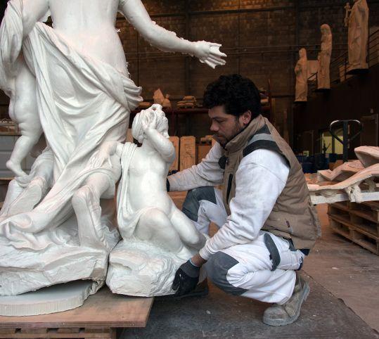Moulage du groupe sculpté de Latone